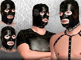 Latex hoods and rubber masks in a kinky sex game