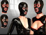 Latex masks and dirty sex with an erotic female hoods