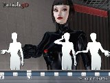 Adult game with latex fetish and submissive sex