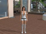 Virtual brunette from a free sex game 3d