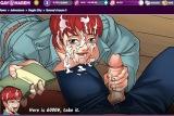 Redhead gay student takes facial