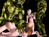 Green orcs fuck naked elf princesses