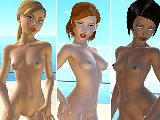 Sexy lesbian sex game online with erotic bikini