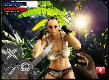 Mysterious flash sex game with a busty female fighter