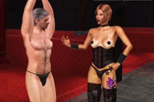 Femdom porn games with girls and female domination with boys