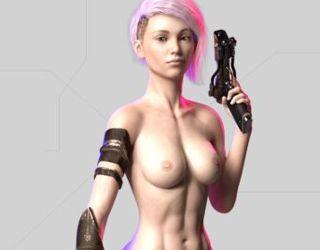 CyberSlut 2069 simulator porn with cyber sluts online fucking game